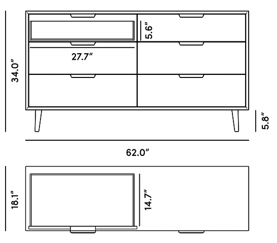 Dimensions for Asher Wide Dresser