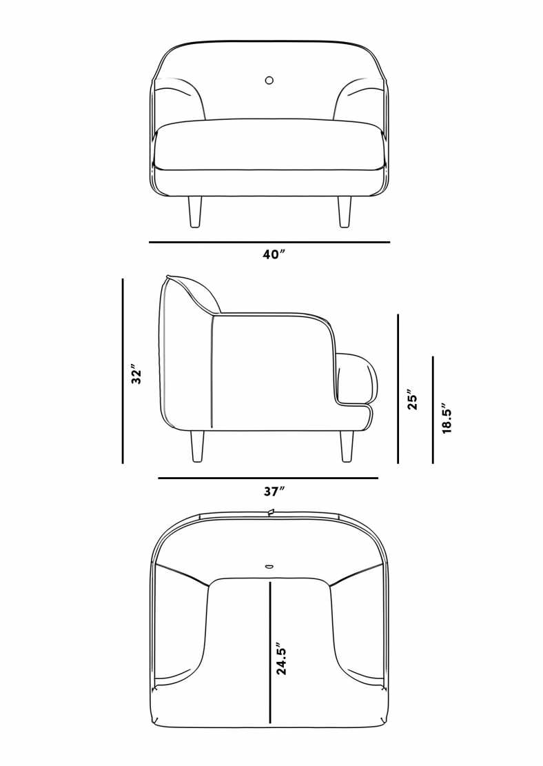 Dimensions for Aalto Armchair
