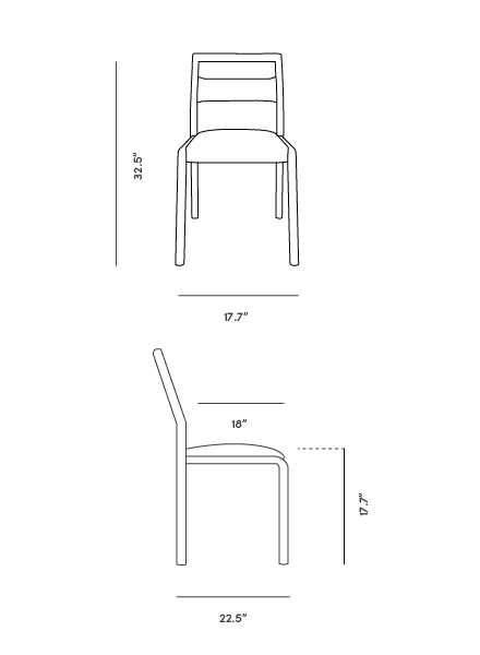 Dimensions for Adele Chair