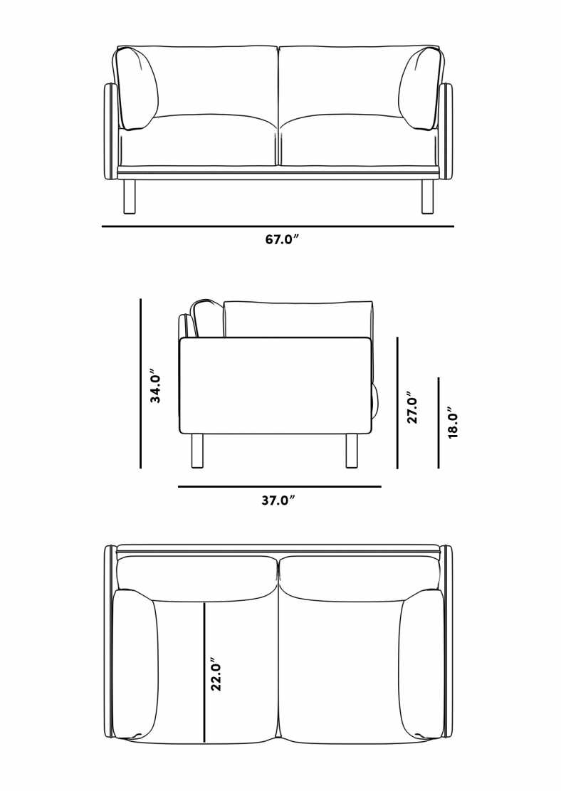 Dimensions for Anderson Loveseat
