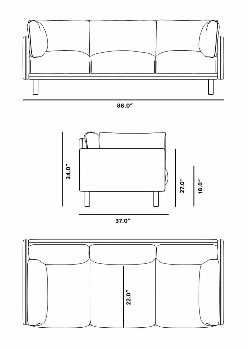 Dimensions for Anderson Sofa