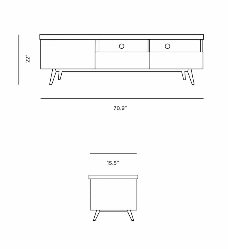 Dimensions for Andrej TV Console