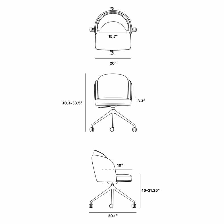 Dimensions for Angelo Office Chair