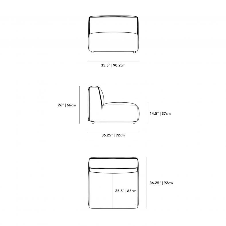 Dimensions for Arya Armless