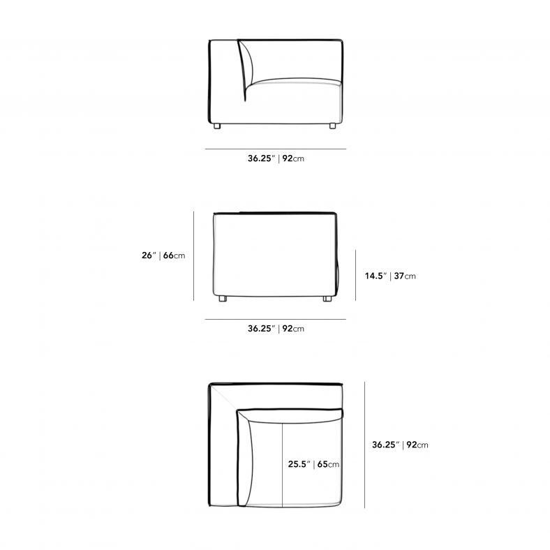 Dimensions for Arya Corner