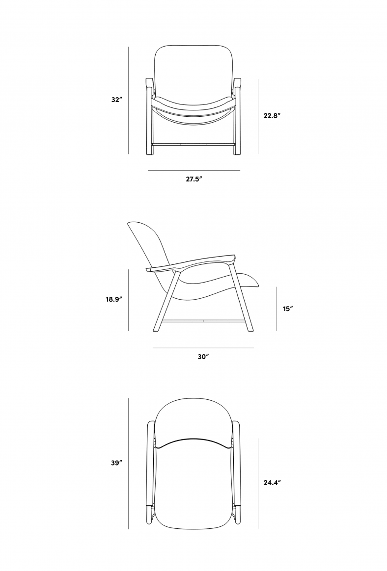 Dimensions for Aubrey Lounge Chair