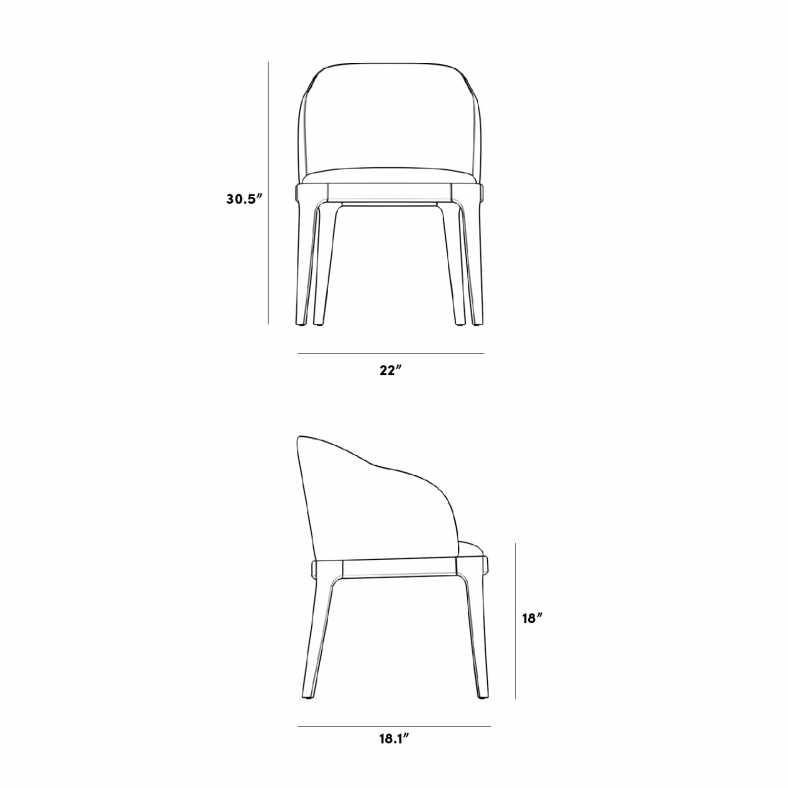 Dimensions for Aubrey Armchair - 2020