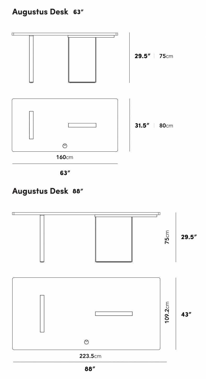 Dimensions for Augustus Desk