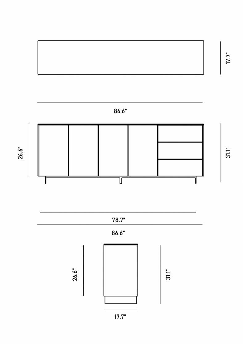 Dimensions for Augustus Sideboard
