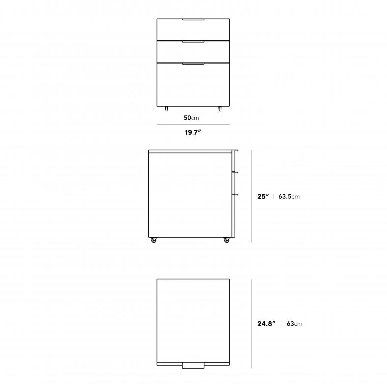 Dimensions for Augustus Storage Unit