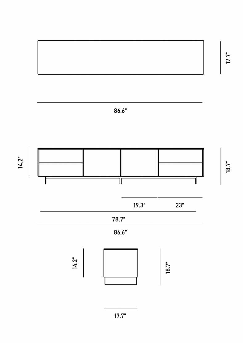 Dimensions for Augustus TV Stand
