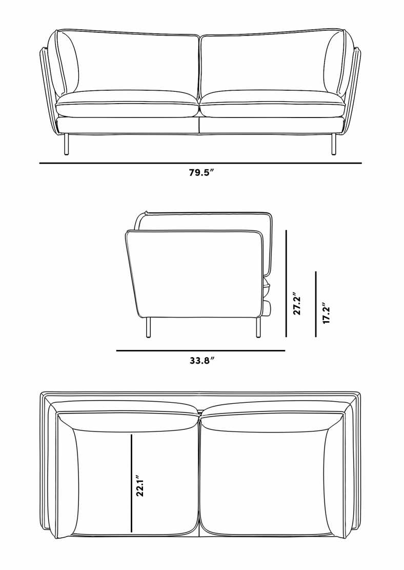 Dimensions for Barbro Sofa