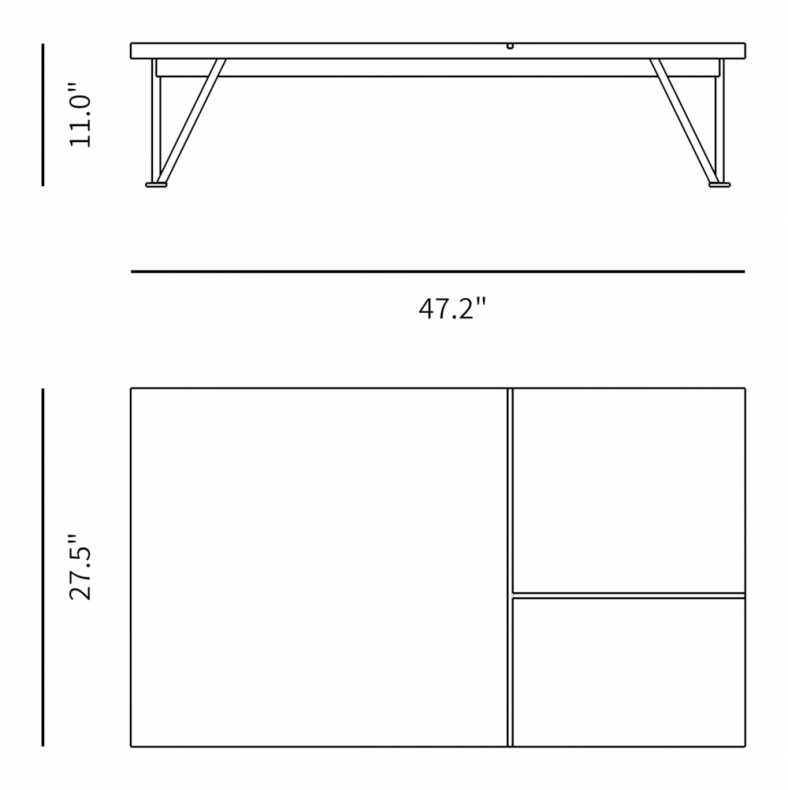 Dimensions for Bennett Coffee Table