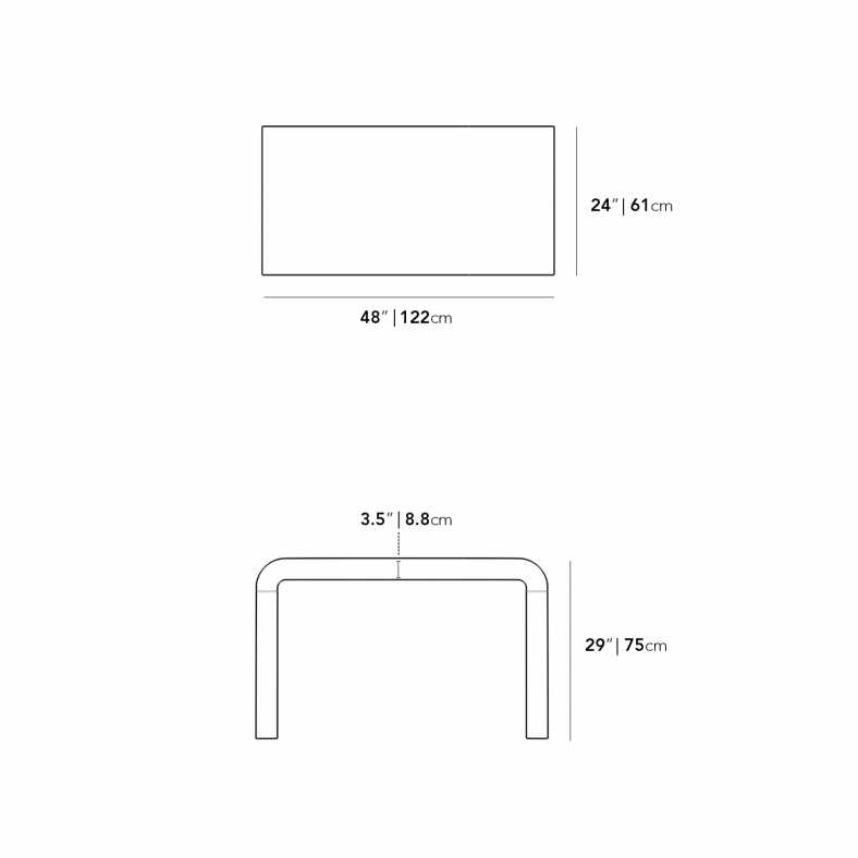 Dimensions for Cascadia Desk