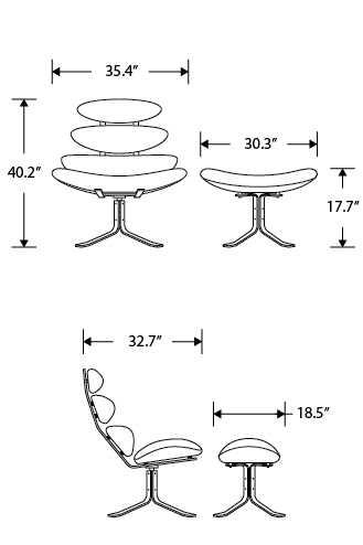 Dimensions for Corona Ottoman