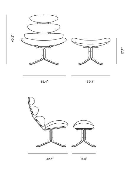 Dimensions for Corona Chair