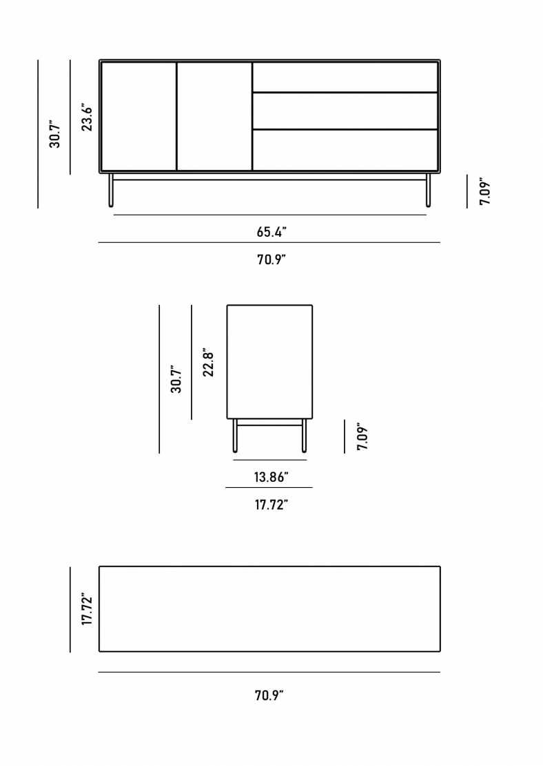 Dimensions for Dax Sideboard