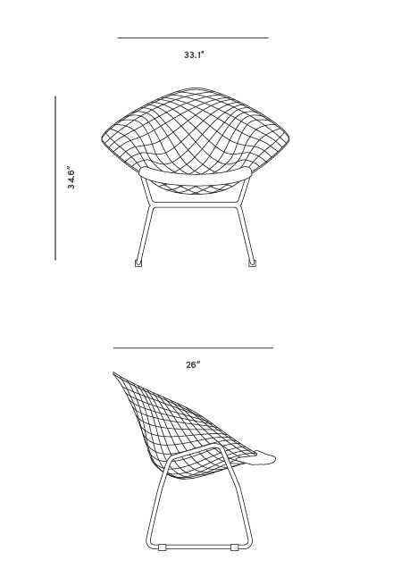 Dimensions for Diamond Chair