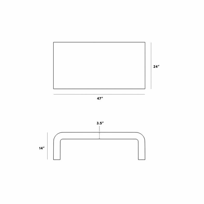 Dimensions for Cascadia Coffee Table