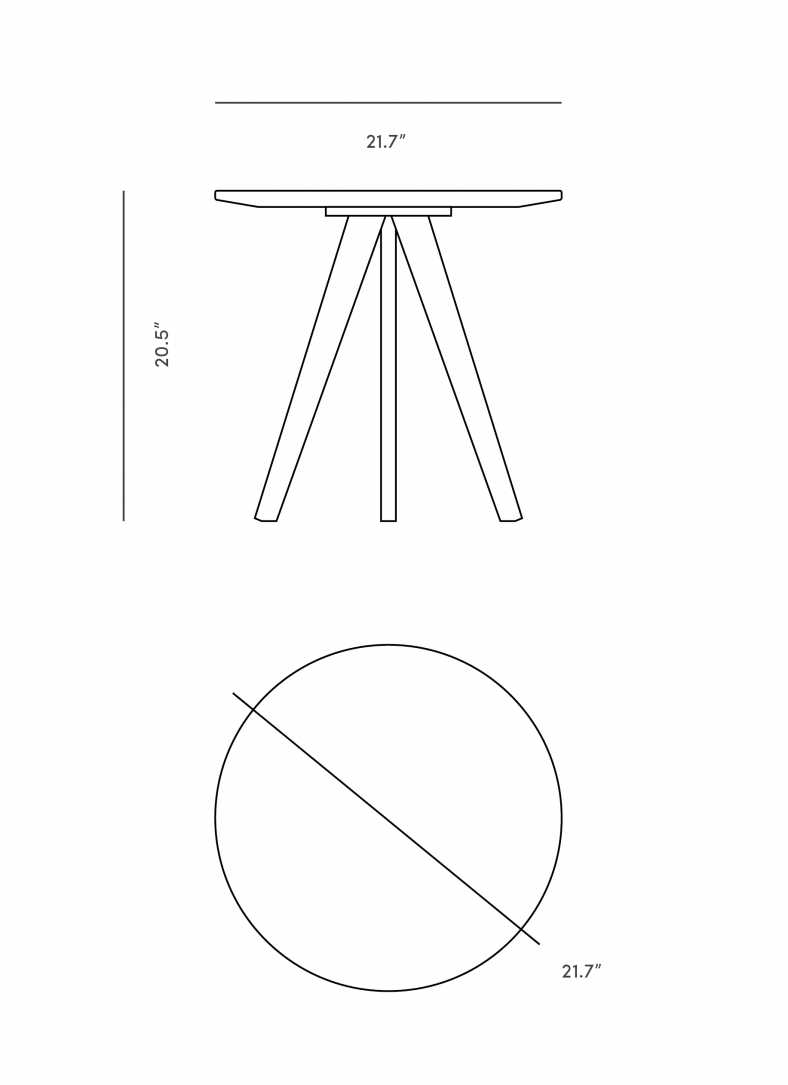 Dimensions for Dolf Side Table