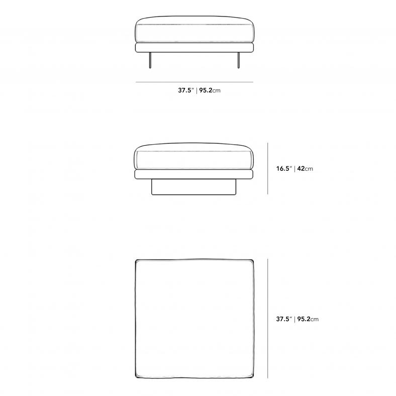 Dimensions for Dresden Ottoman
