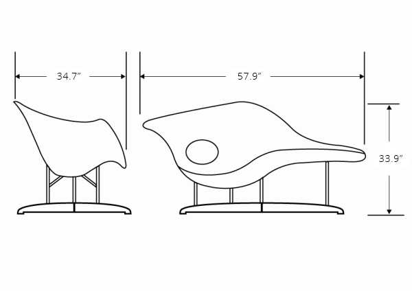 Dimensions for La Chaise