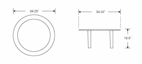 Dimensions for Molded Plywood Coffee Table