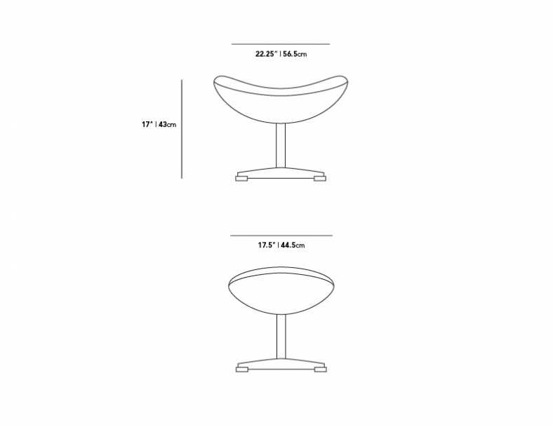 Dimensions for Egg Ottoman