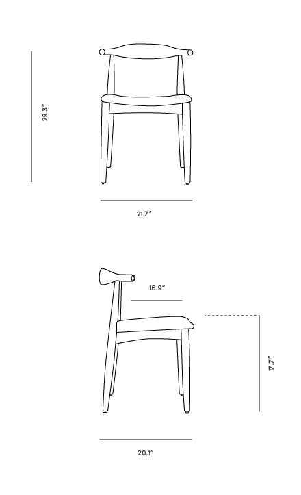 Dimensions for Elbow Outdoor Chair