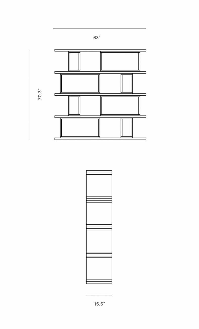 Dimensions for Elias Bookshelf