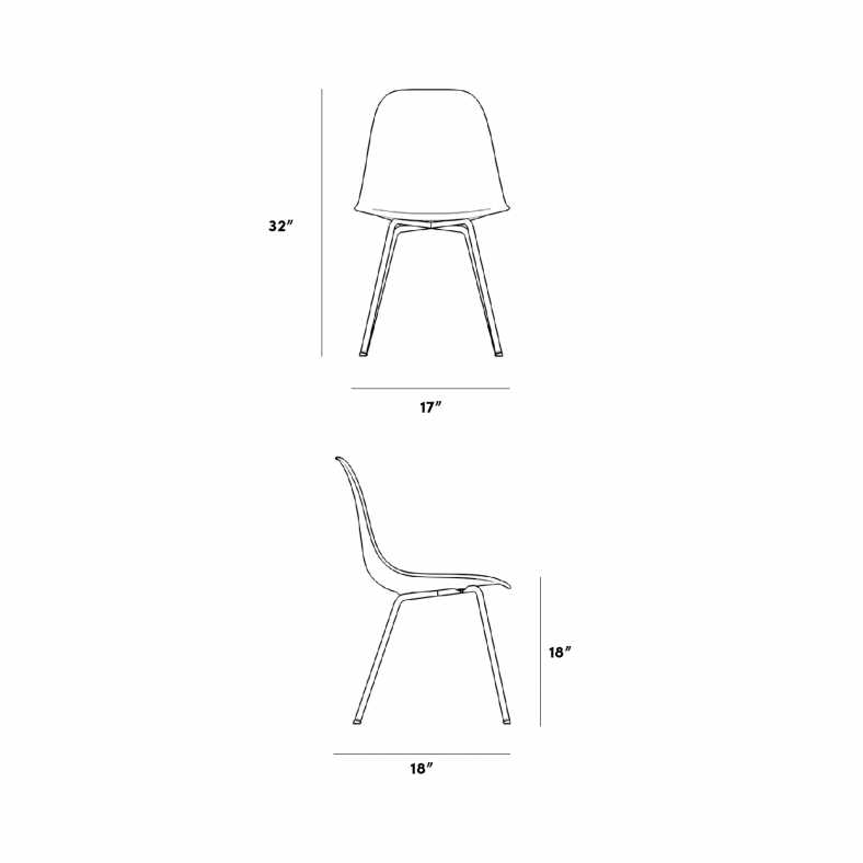 Dimensions for Emilia Chair