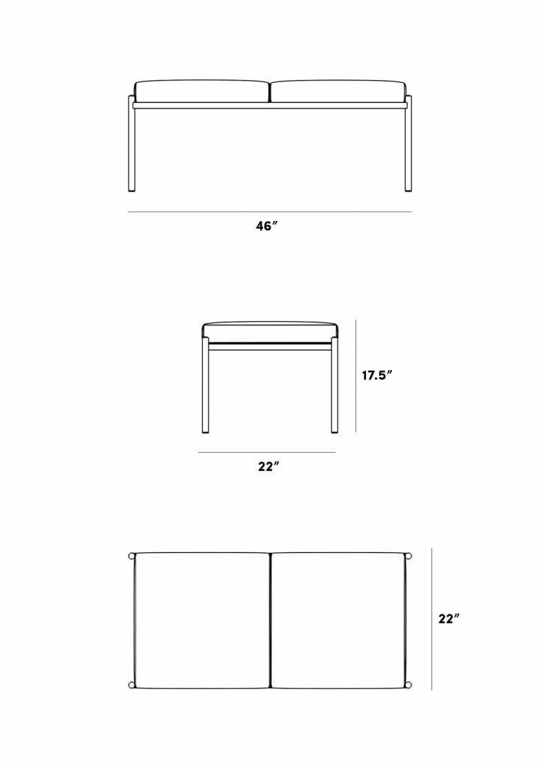 Dimensions for Enzo Bench