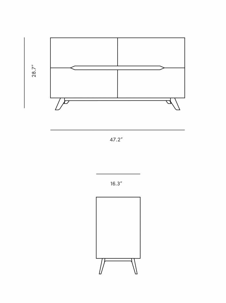 Dimensions for Erik Sideboard