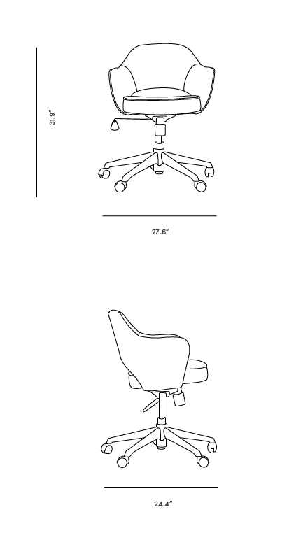 Dimensions for Executive Task Armchair