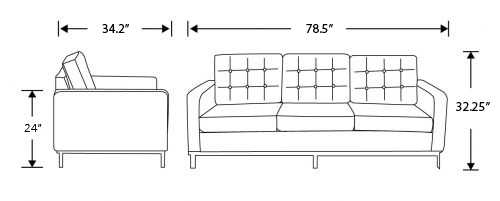 Dimensions for Florence Sofa