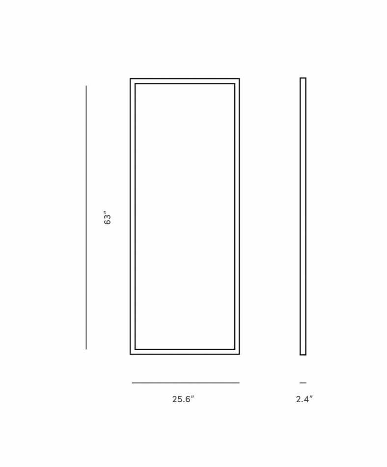 Dimensions for Finn Mirror