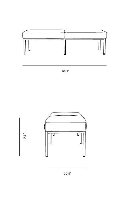 Dimensions for Florence 3 Seater Bench
