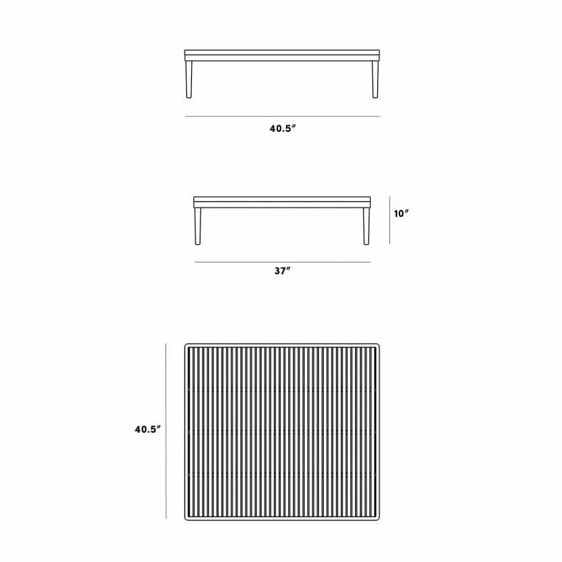 Dimensions for Francis End Table