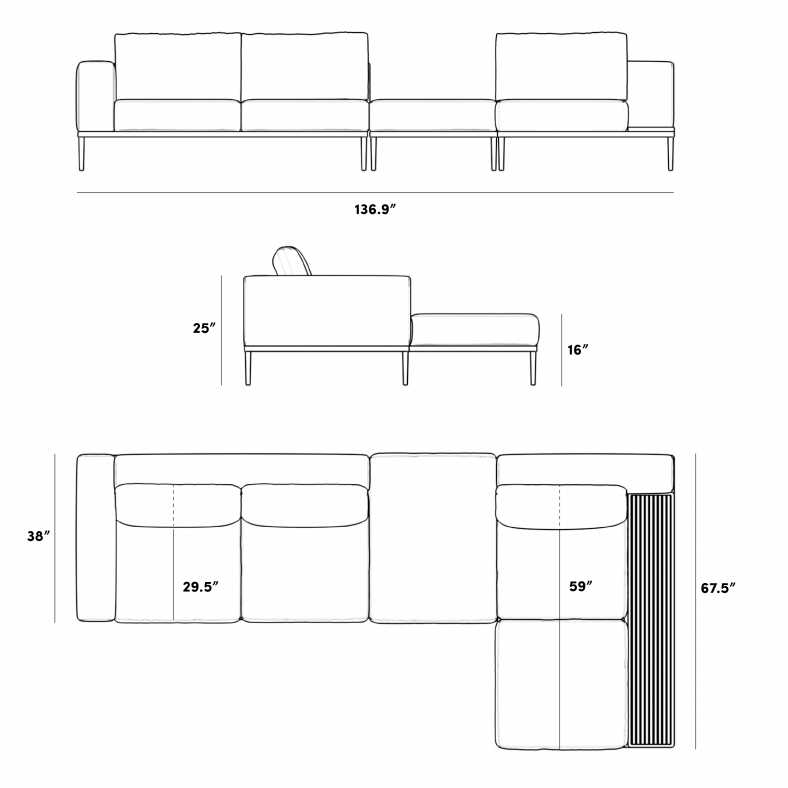 Dimensions for Francis Modular Sectional