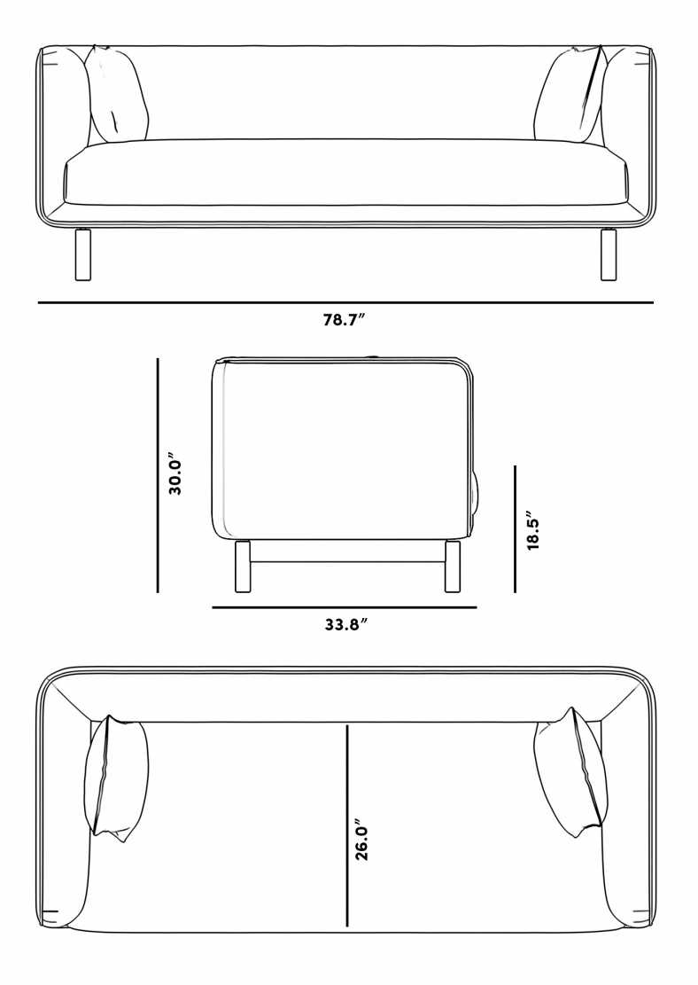Dimensions for Frans Sofa