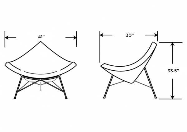 Dimensions for Coconut Chair
