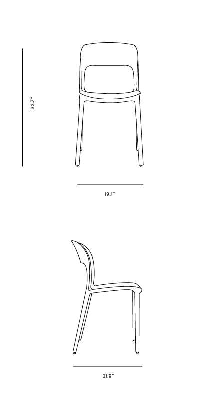 Dimensions for Gipsy Chair