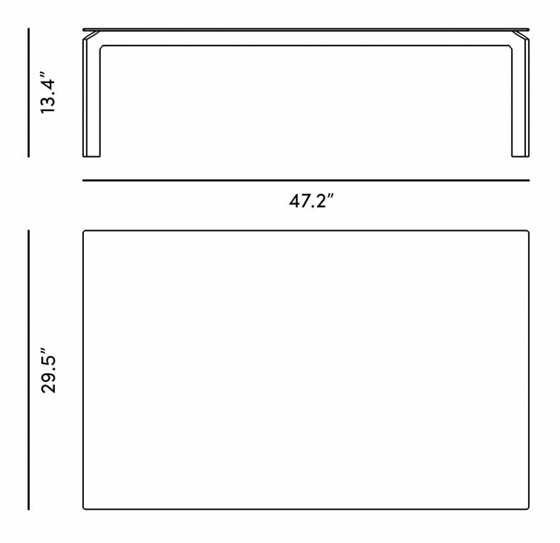 Dimensions for Hadley Outdoor Coffee Table