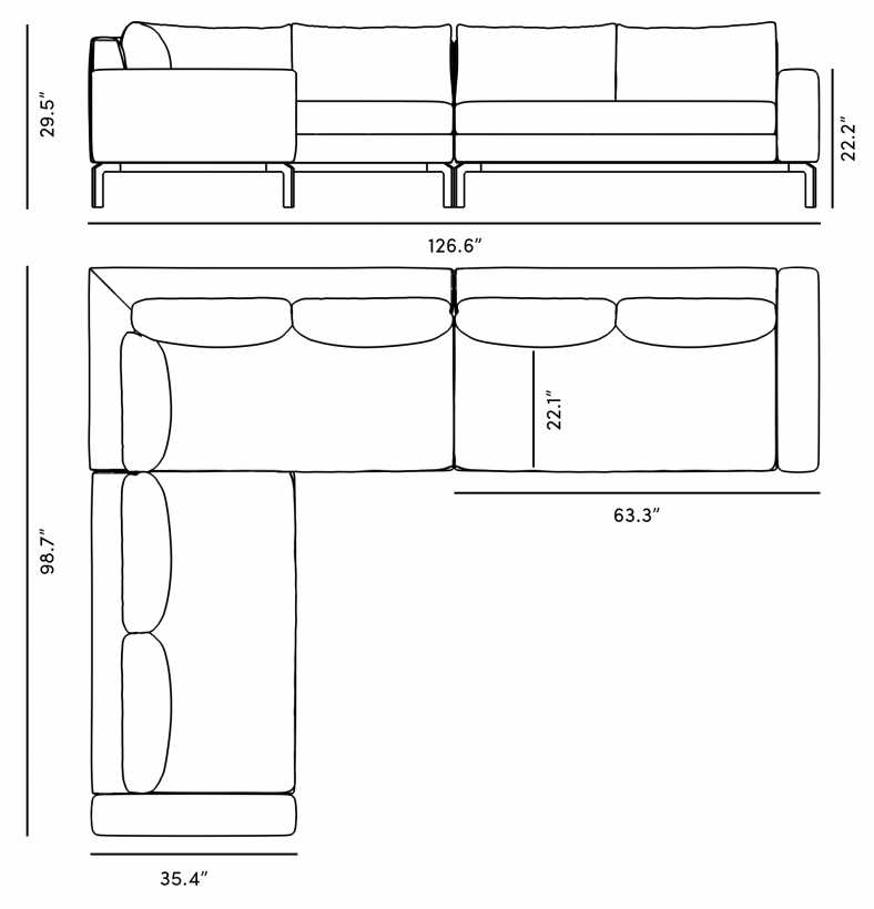 Dimensions for Hadley Outdoor Sectional