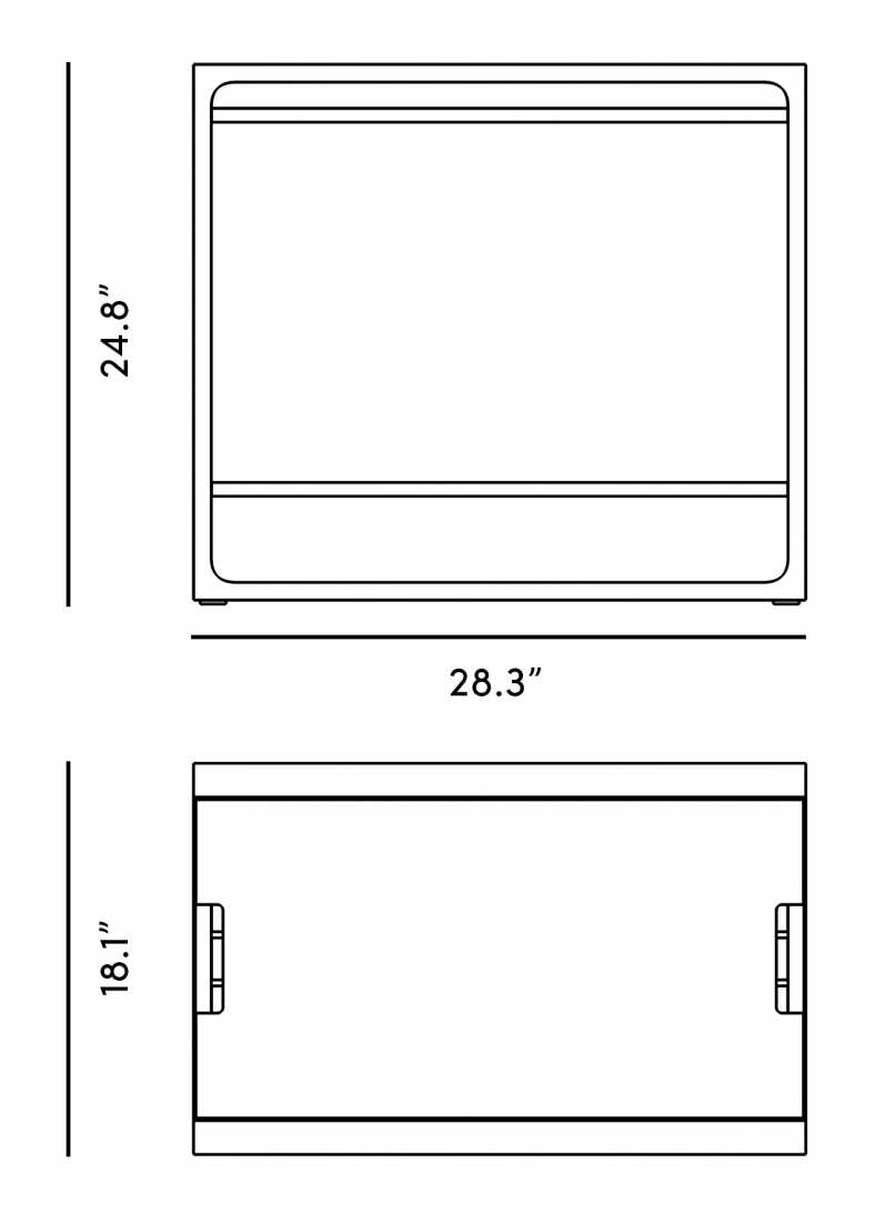 Dimensions for Hadley Side Table