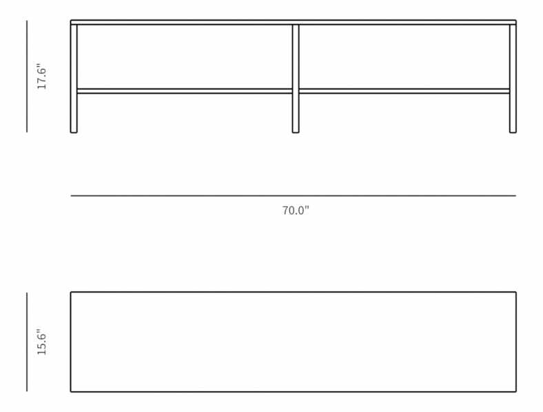 Dimensions for Hanne Console