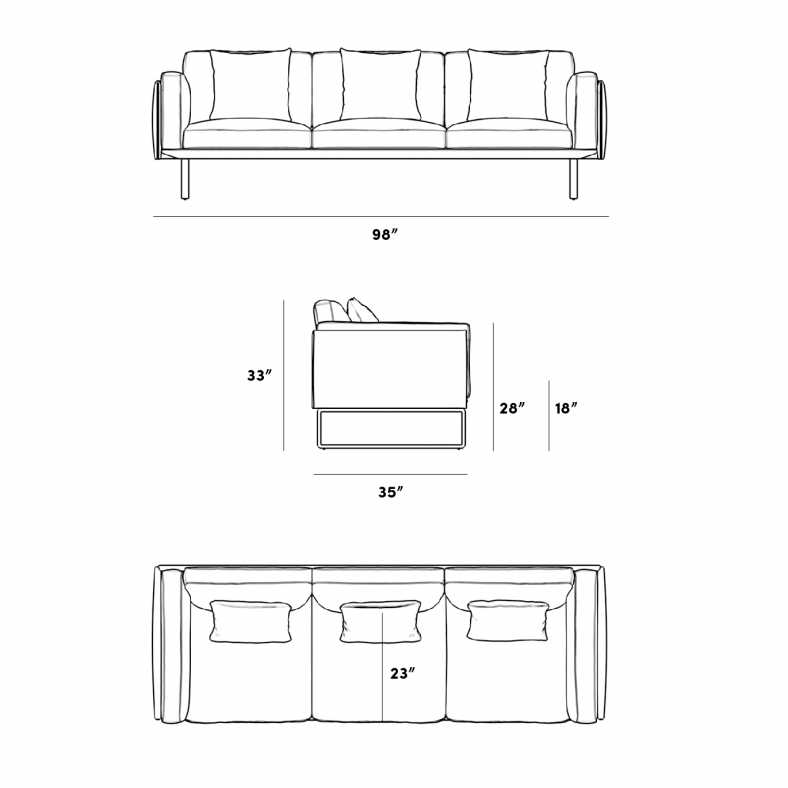 Dimensions for Hector Sofa