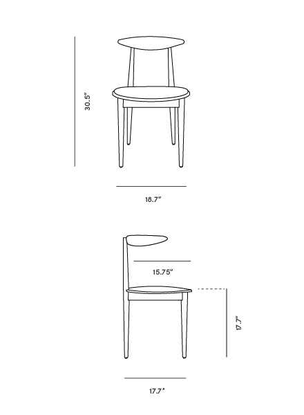 Dimensions for Holm Chair