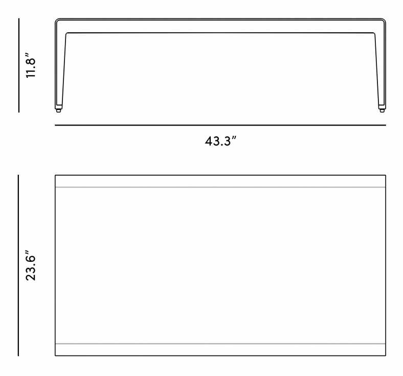 Dimensions for Isabella Outdoor Coffee Table