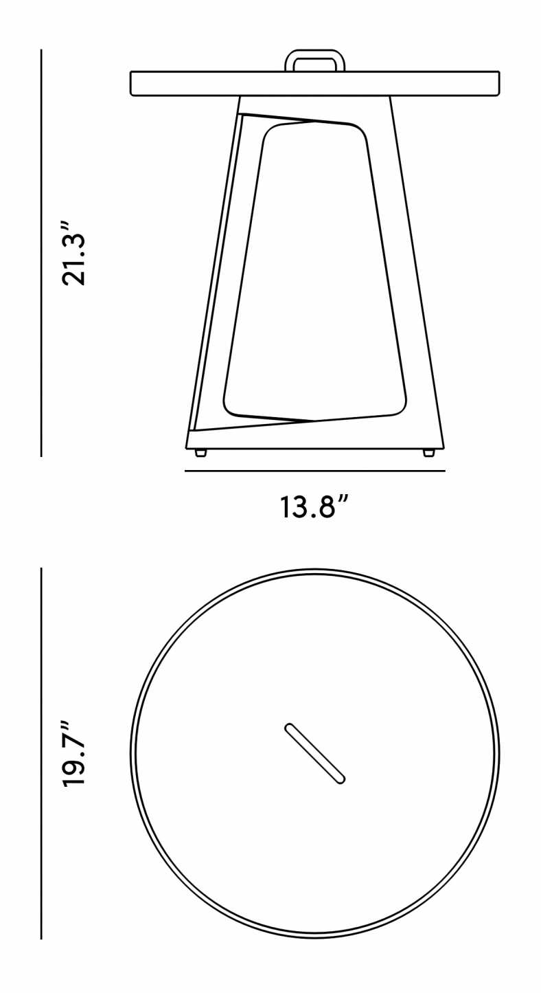 Dimensions for Isabella Outdoor Side Table